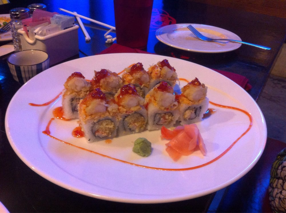 Fire roll yelp for Aoi japanese cuisine newport