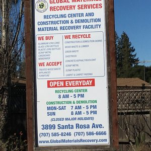 Santa Rosa Recycling Center >> Global Materials Recovery Services 17 Reviews Junk