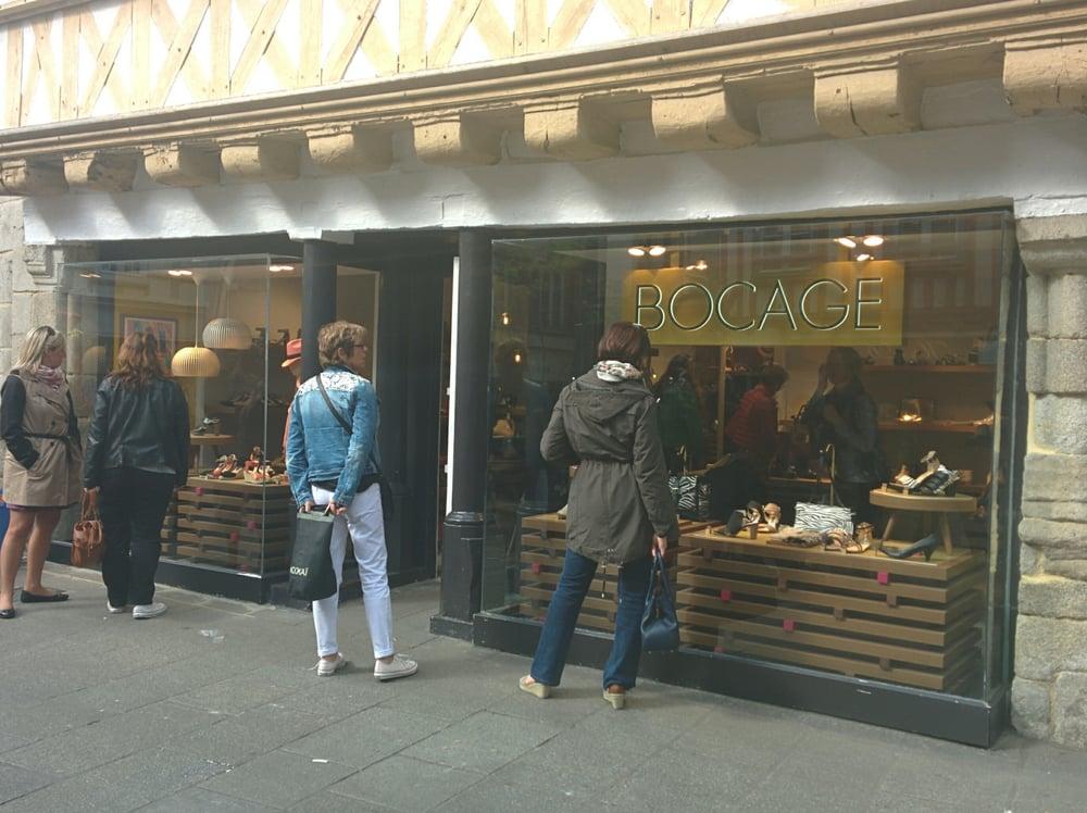 Bocage magasins de chaussures 14 rue k r on quimper - Magasin chaussure quimper ...