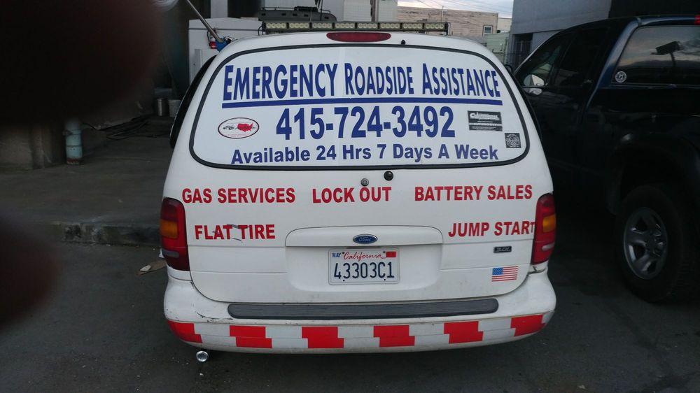 Emergency Roadside Assistance Service: 5TH St, San Francisco, CA