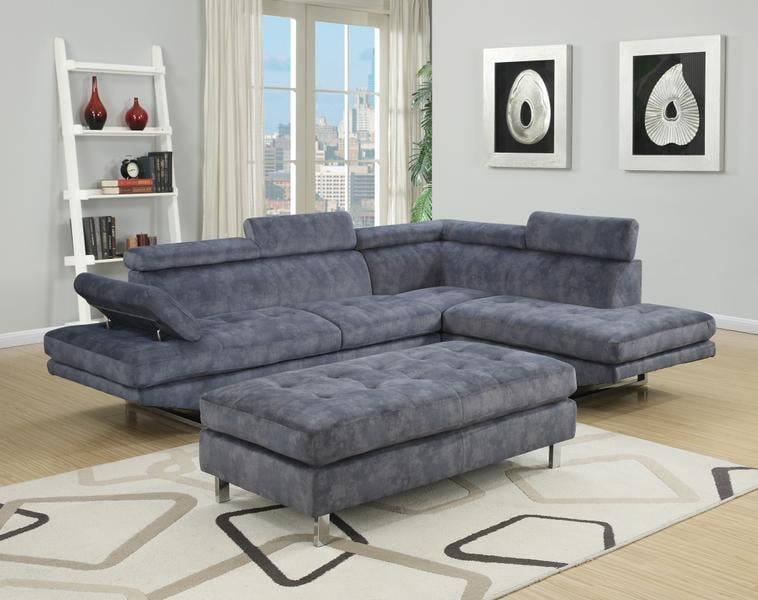 Ibiza Blue Bella Sectional Sofa And Ottoman Set 699 Yelp