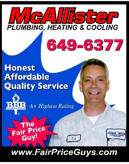 McAllister Plumbing, Heating & Cooling: 3080 Amsdell Rd, Hamburg, NY