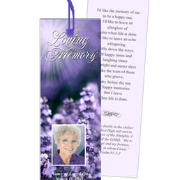 Photo Of The Funeral Program Site Mckinney Tx United States Bookmarks Laminated