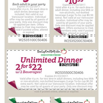 Souplantation coupons in california