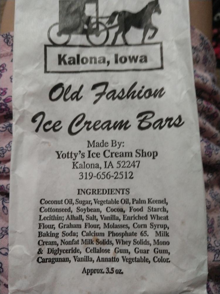 Yotty's Ice Cream Shop: 501 B Ave, Kalona, IA