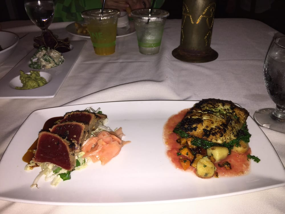 Combo charred ahi and olive oil seared ono yelp for Merriman s fish house