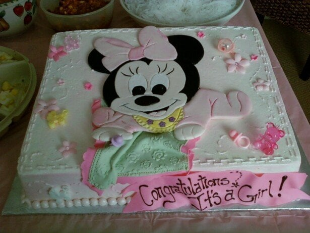 Baby Shower Cakes Honolulu ~ Baby minnie mouse baby shower cake yelp