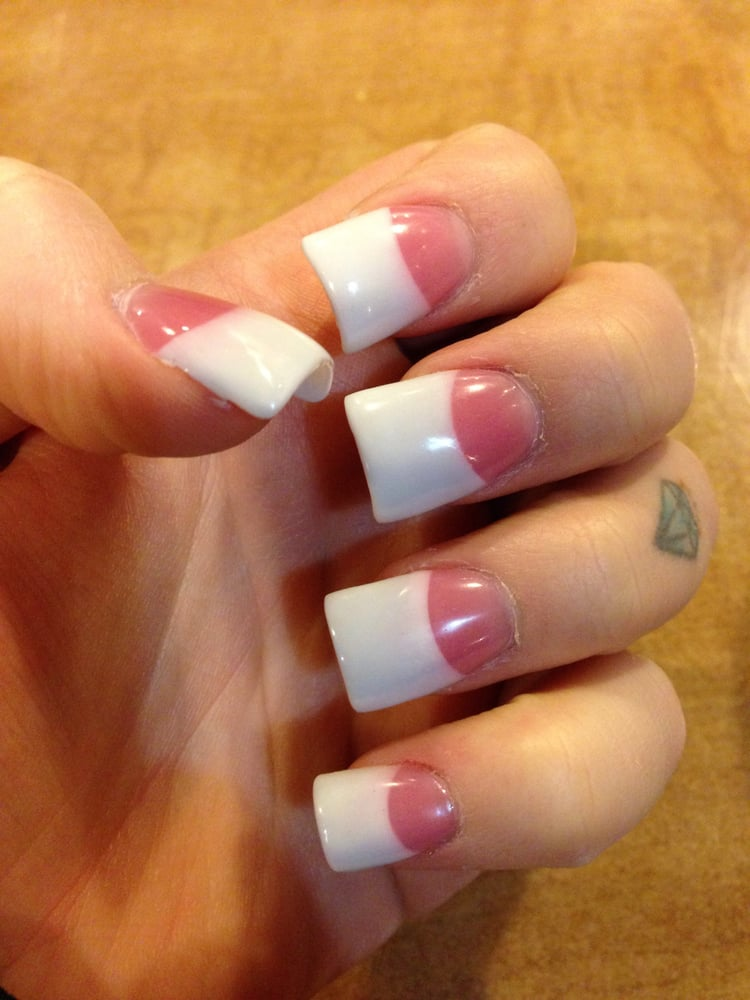 Photo Of Vans Nails Folsom Ca United States Pink And White Gel