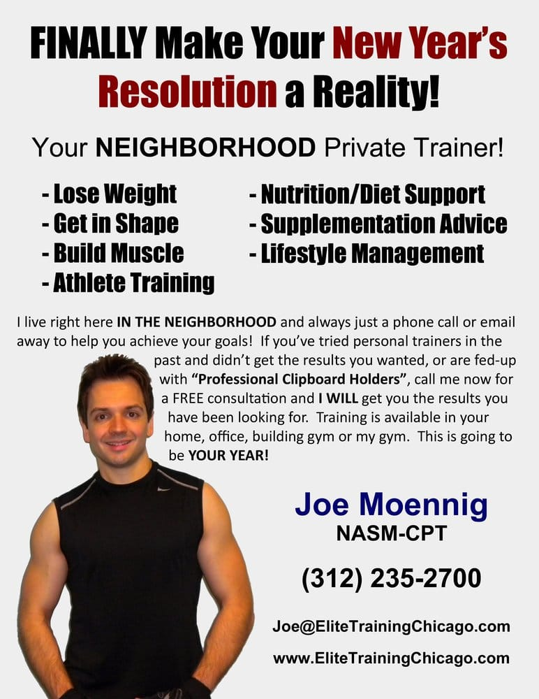elite personal training new years resolution flyer yelp. Black Bedroom Furniture Sets. Home Design Ideas