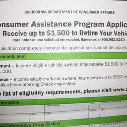 Consumer Assistance Program Vehicle Retirement Auto Repair 10949
