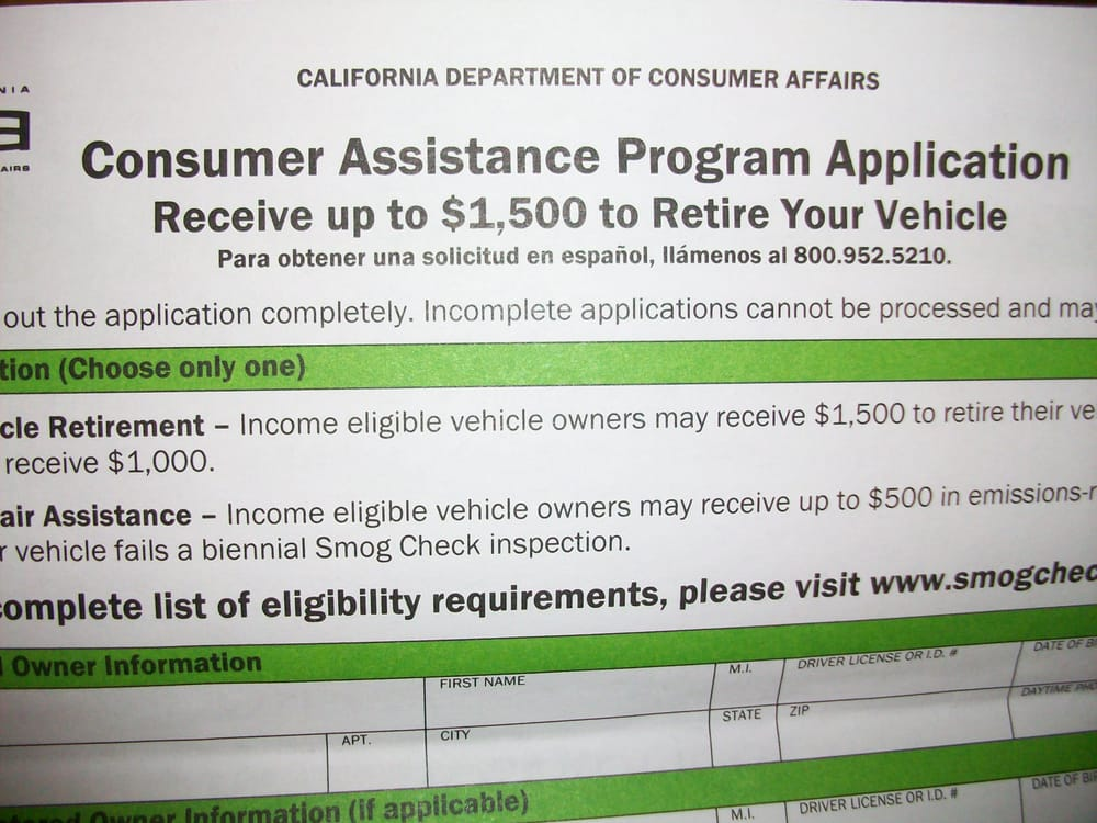 Car Retirement Program Ca >> Consumer Assistance Program Vehicle Retirement 2019 All You Need