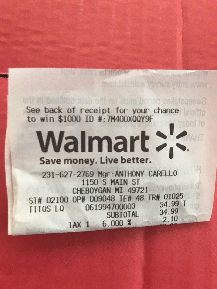 Walmart Supercenter: 1150 S Main St, Cheboygan, MI