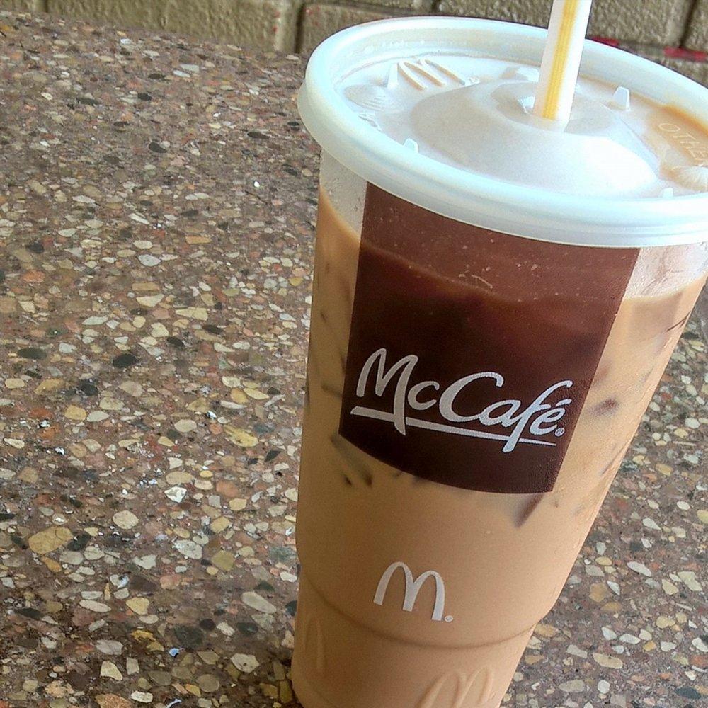 McCafe XL Iced Caramel Mocha With Extra Espresso
