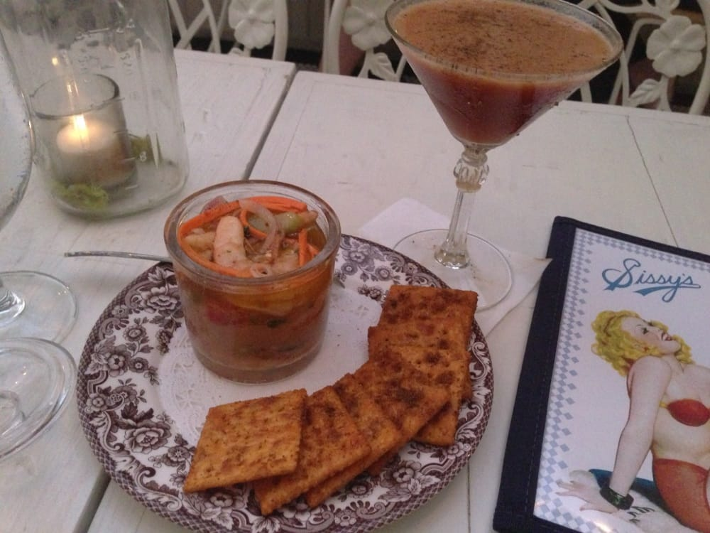 Pickled Shrimp With Spicy Crackers Yelp
