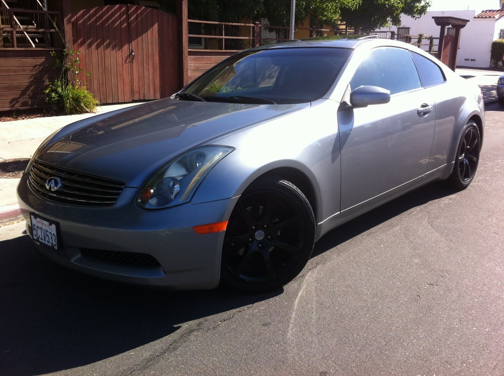 2003 Infiniti G35 Coupe Charcoal With Black Leather Interior