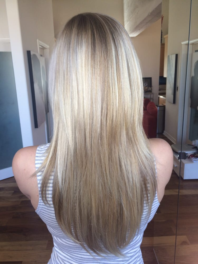 Natural looking blonde highlights with a beautiful toner for an photo of hair by hilda los angeles ca united states natural looking pmusecretfo Image collections