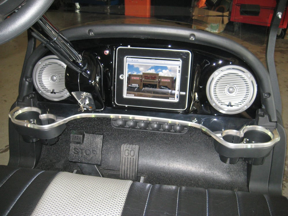 Custom Golf Cart Dash With An Ipad In The Dash Built By