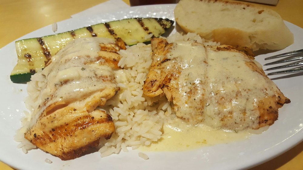Salmon with butter sauce rice and zucchini yelp for California fish grill culver city ca