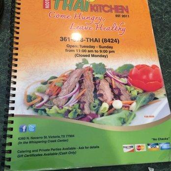 Noots Thai Kitchen Menu