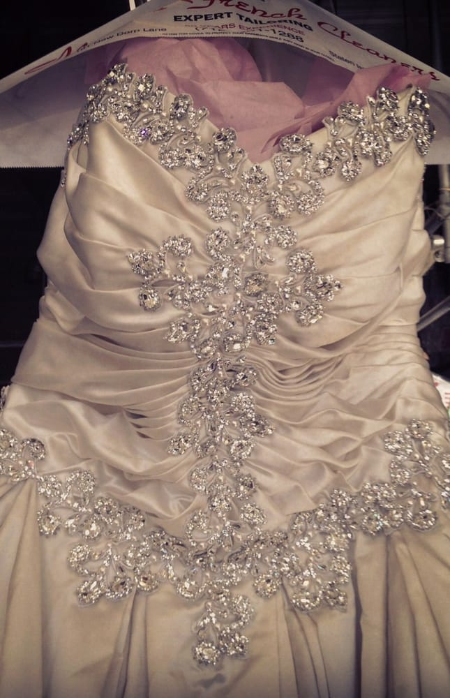 We specialize in wedding gown restoration. This Pnina Tornai gown ...