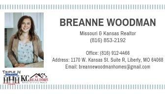 Breanne Woodman- KC, Realtors: 1170 W Kansas Street Liberty Mo 64068, Liberty, MO