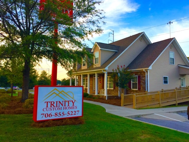 Trinity custom homes model home the augusta located on for Designer homes augusta ga