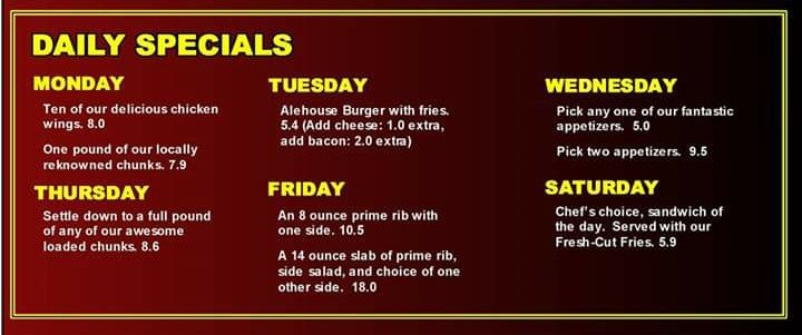 Alehouse Grill: 1234 N Main St, Bowling Green, OH