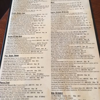 Tap Room Menu Woodbury Mn
