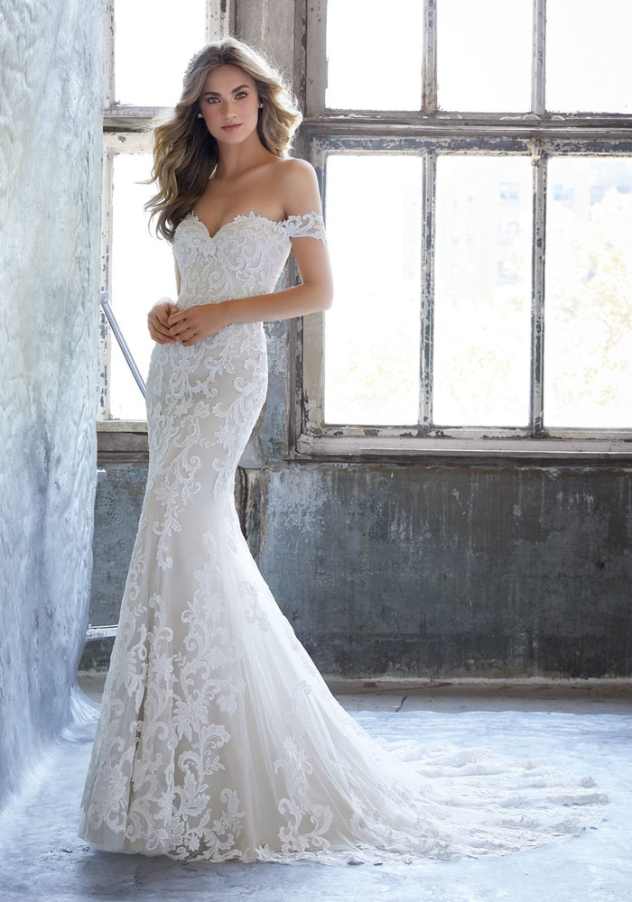 Vintage inspired a line bridal gown yelp for Vintage wedding dresses san diego