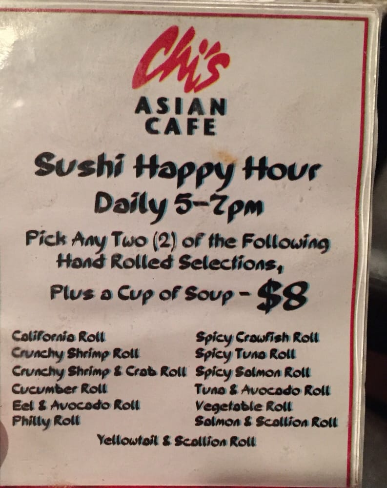 Sushi Cafe Little Rock Menu Happy Hour