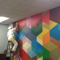 Photo of Patrick Shields Wallpaper & Mural Installation - Washington, DC, United States.