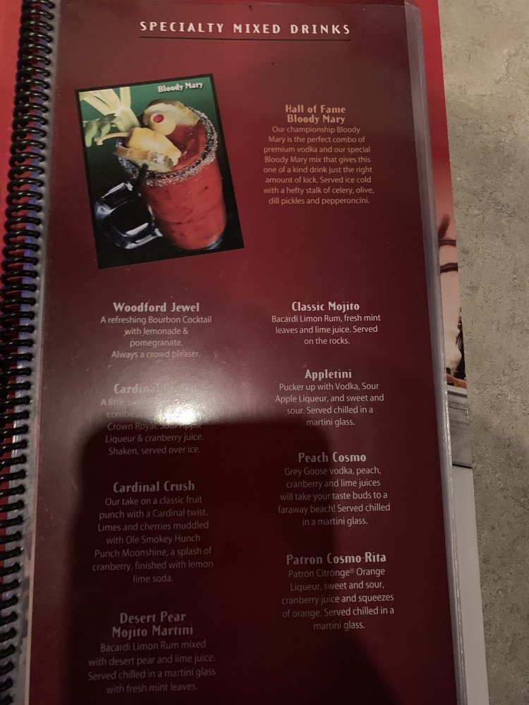Cardinal Hall of Fame Cafe - 2019 All You Need to Know