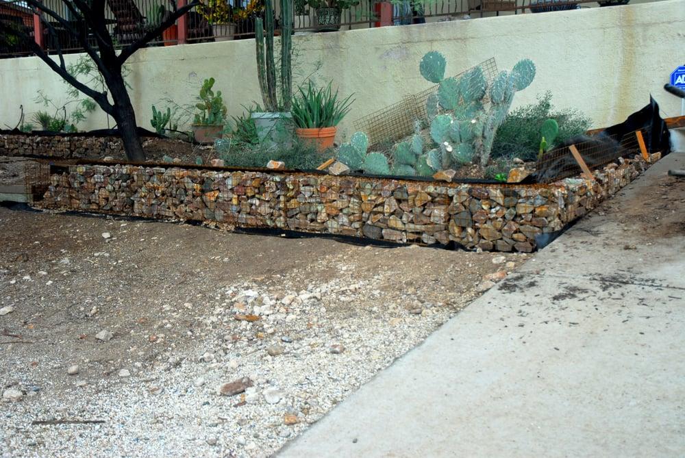 Coronado Brown Rip Rap In A Gabion Basket Terrace Wall Yelp