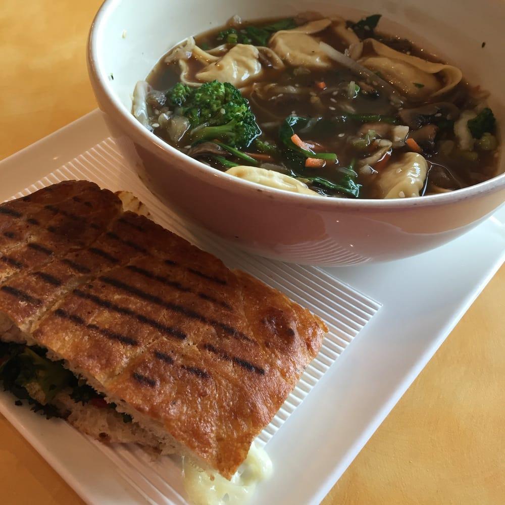 New Menu Items Thai Garden Chicken Wonton Broth Bowl And Roasted Turkey Caramelized Kale