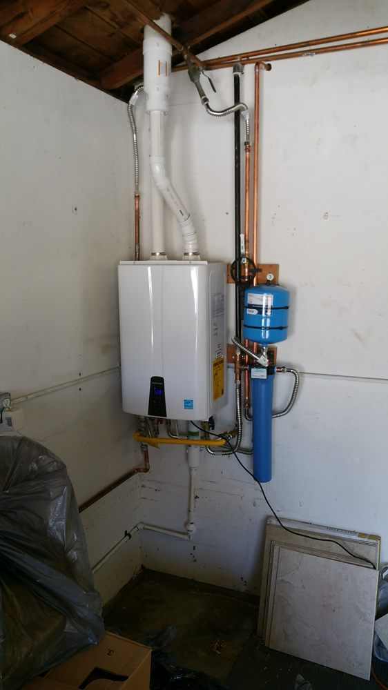 navies tankless upgrade - all tankless water heaters installs