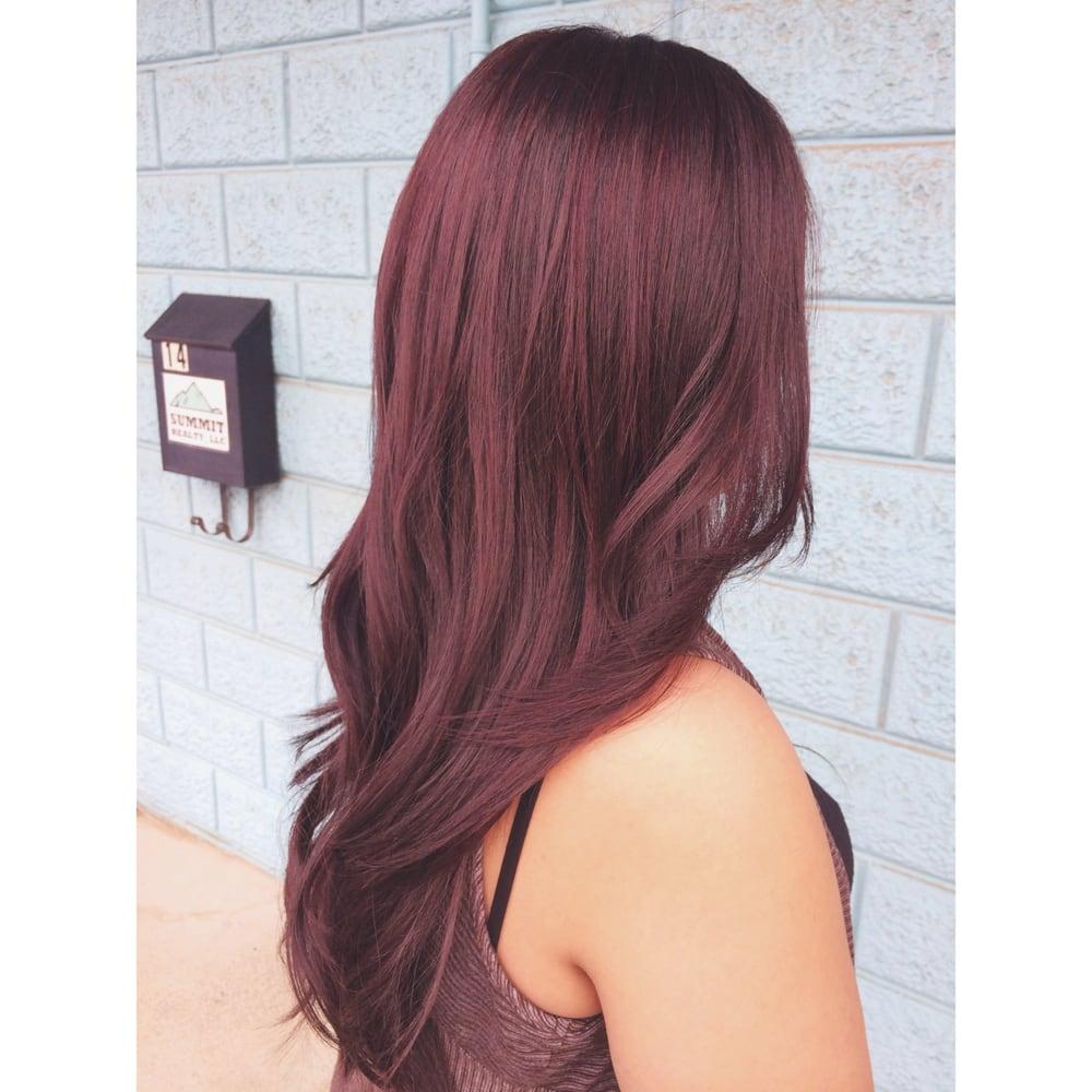 Violet Brown All Over Color With Soft Red Violet