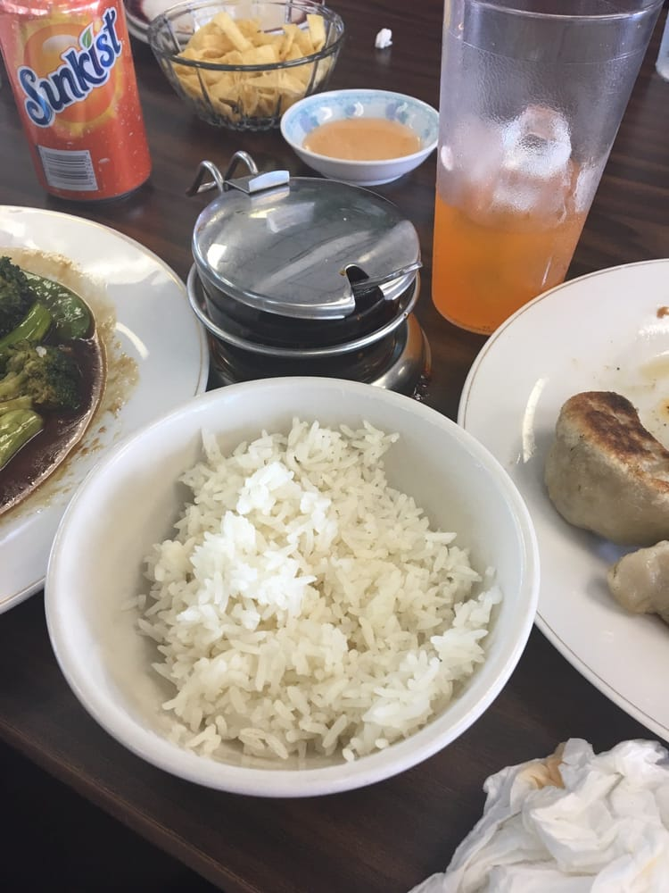 White Rice With My Lunch Vegetables Delight Spicy Yelp