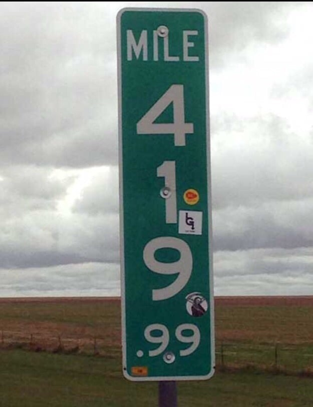 419.9 Mile Marker: Interstate 70, Stratton, CO