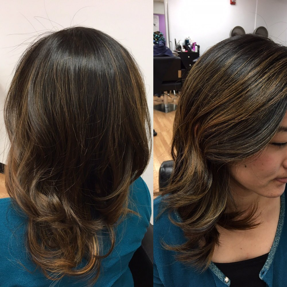Balayage by elena she 39 s super sweet and does an amazing for Salon haute coiffure paris