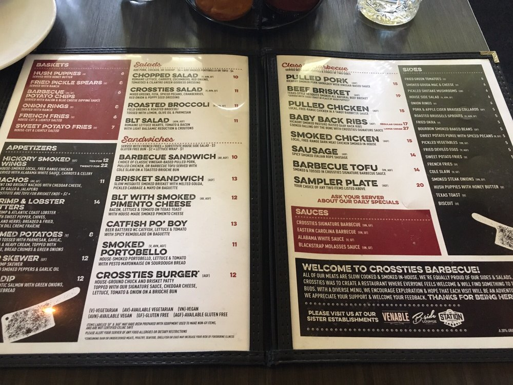 Photo of CrossTies Barbeque - Carrboro, NC, United States. The sides look amazing!