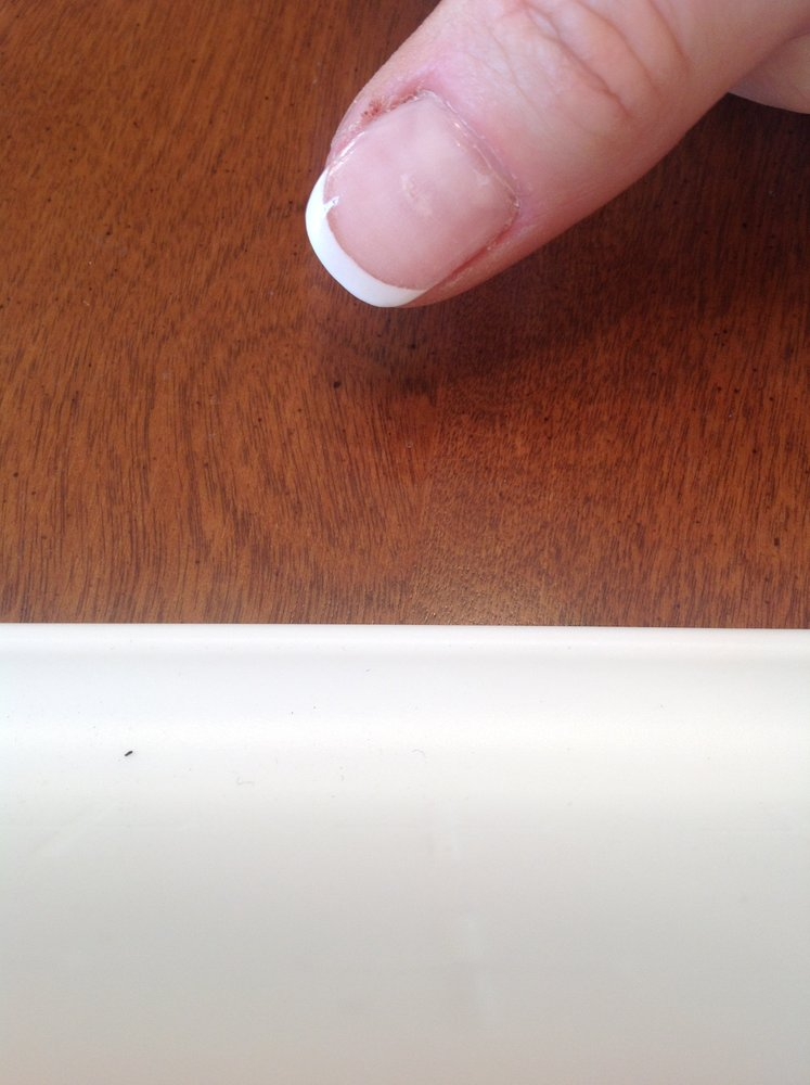 Sanded a hole in my nail bed!! Look at the cuticles!!!! STAY AWAY ...