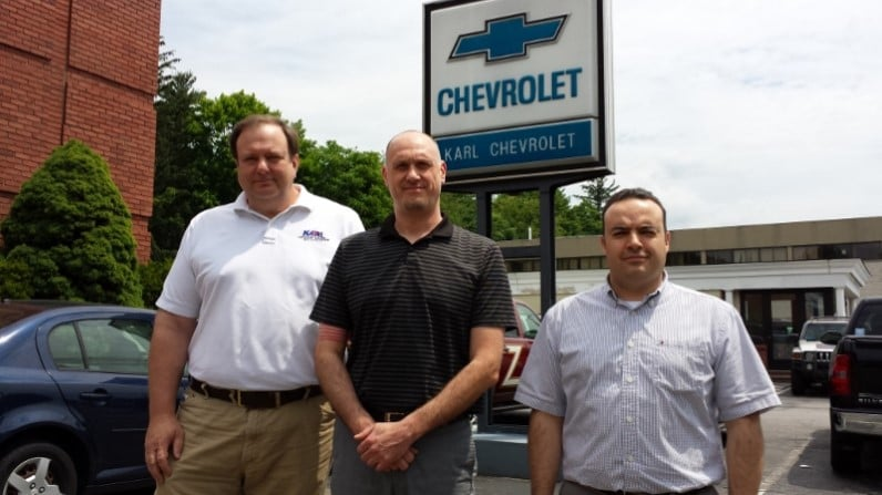 The Karl Chevrolet Service Team ..... Manager Jay dley ...