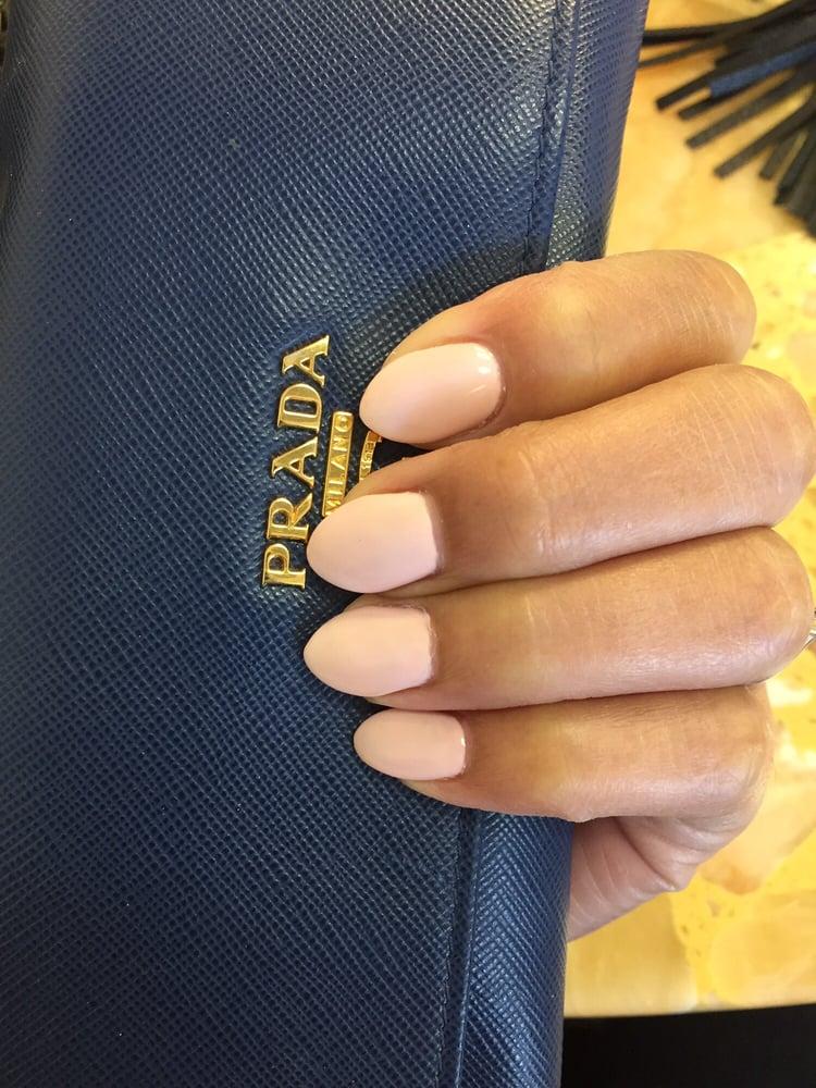 Acrylic nail (not chunky!!) Still natural looking. And look at that ...