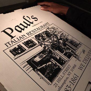 Paul S Italian Restaurant Southampton Menu
