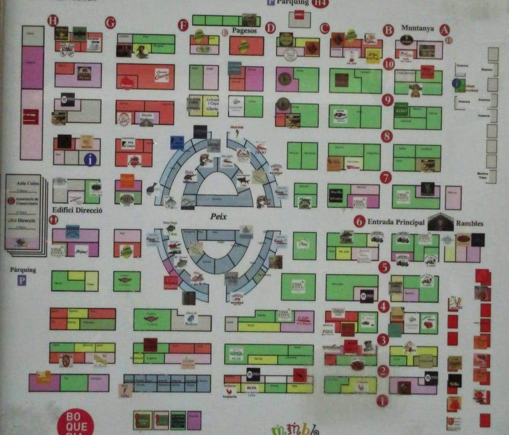 a map of the market at the entrance  Yelp