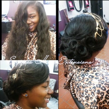 Sew In With Elegant Updo Perfect For A Prom Wedding Or Any