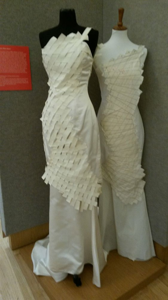 Exhibit On Fashion A Wedding Dress Made Of Unconventional Material