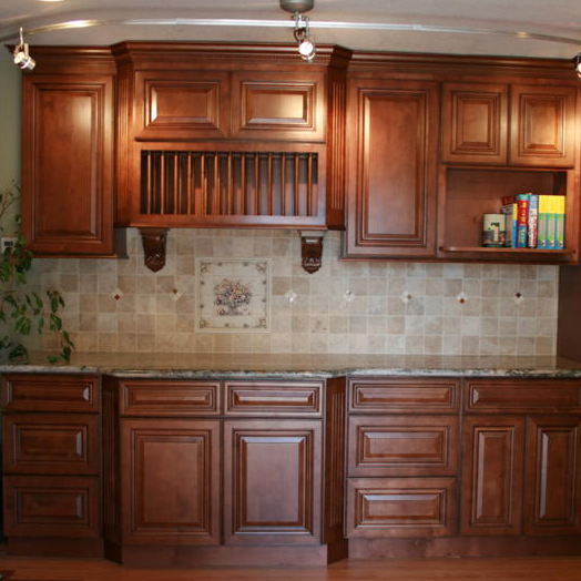 Vintage Kitchen Yelp: Berkeley Coffee Glaze Kitchen Cabinets