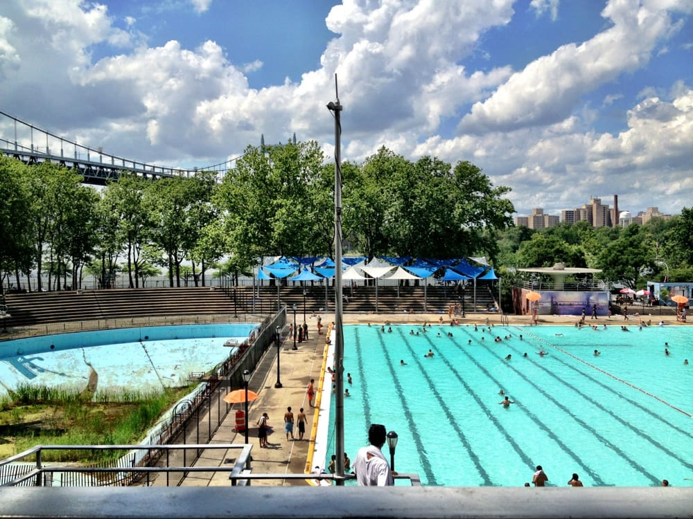 Ny 39 s largest outdoor pool awesome views of the two for Biggest outdoor pool