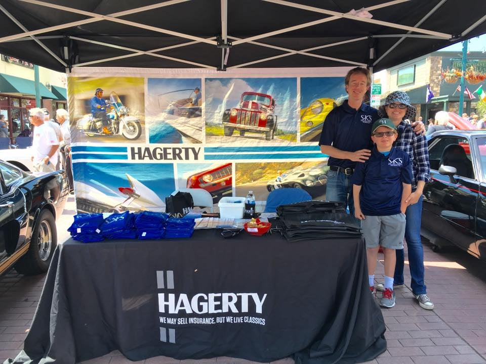 our booth at the annual seal beach chamber of commerce classic car show representing hagerty. Black Bedroom Furniture Sets. Home Design Ideas